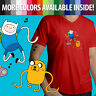 Adventure Time Finn Jake Dance Cartoon Friends Mens Unisex Tee V-Neck T-Shirt