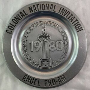 Pewter Trophy Plate Colonial National Invitation Golf Tournament Fort Worth TX