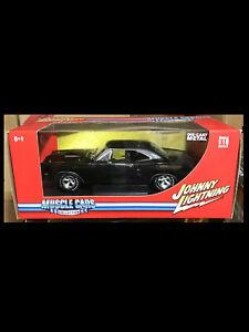 1969 Dodge Superbee Metallic Black 1:18 Johnny Lightning 51054