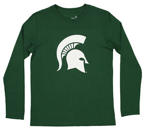 Outerstuff NCAA Youth (8-20) Michigan State Spartans Team Logo Long Sleeve Shirt