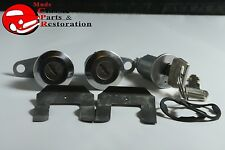 67-69 Mustang Ford Ignition & Door Lock Cylinder Keys Set Kit