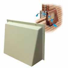 """Sand Hooded Cowl 9"""" x 9"""" Vent Cover for Air Bricks Grilles Extractor Vents"""