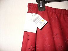 Coldwater Creek laser cut faux suede skirt  misses 10-12 dk red