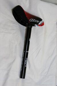 THE Mini/Junior BMX Racing Seat & Post Red & Black 25.4