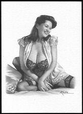Modern GLAMOUR ART Postcard by Kovik: Paula Page. Free UK Postage