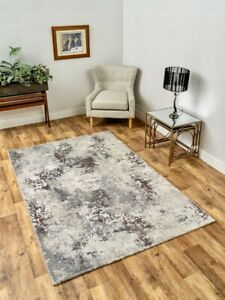 Modern Extra Large Big Huge Cheap Silver Purple Marble Rug Mat Cheapest Rugs UK