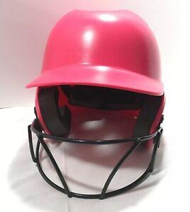 Wilson Softball Batting Helmet A5427 Super Fit Mask Pink 6 1/8-7 1/2 OSFM 6 Kids