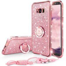 Glitter Cute Samsung Galaxy S8 Case Girls With Stand, Bling Diamond Rhinestone -