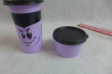 Tupperware Halloween Tumbler & Snack Cup upperware Kids Vampire Lavender & Black
