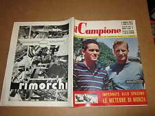 RIVISTA SPORTIVA IL CAMPIONE ANNO 1957 ANNO III° N°35 TOZZI SELMOSSON MOTO MONZA