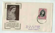 1953  Coronation Cover  Malaya Penang 10c Post Marked Bentond FDC