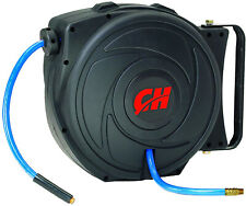 Air Hose Reel With Retractable 50 Foot Hose 3/8 Inch ID Mountable Swivel 300 PSI