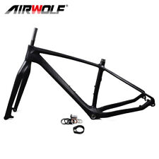 Full Carbon Fiber Fat Bike Mtb Frame Fork 26er*5.0inch Sandy Snow Bicycle Frames