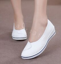 New Womens Loafters Canvas Nurse loafters Causal Shoes Pull On Ladies Boat Shoes