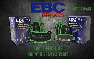 NEW EBC GREENSTUFF FRONT AND REAR BRAKE PADS KIT PERFORMANCE PADS PADKIT1260