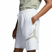 Air Jordan Nike Mens Jumpman Logo White Fleece Basketball Shorts XXL 2XL NEW