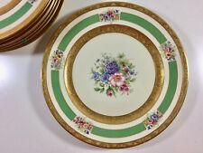 8 PLACE SETTING ROSENTHAL IVORY GOLD ENCRUSTED DINNER PLATES 5841 PORCELAIN VTG