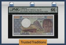 TT PK 16d 1981-93 CAMEROUN UNITED REPUBLIC 1000 FRANCS PMG 66 EPQ GEM UNC!
