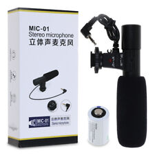 Pro Directional External Microphone For Canon Nikon DSLR SLR Camera DV Camcorder