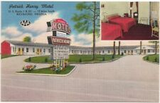 Postcard VA Patrick Henry Motel, US Route 1 & 301, Richmond Chester, Virginia
