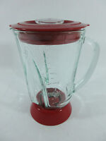 Hamilton Beach Wave Action Blender 48 oz Glass Jar & Lid Replacement Red
