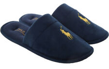 NEW IN BOX AUTHENTIC RALPH LAUREN PONY LOGO NAVY SLIPPERS MULES SLIDES SIZE 10