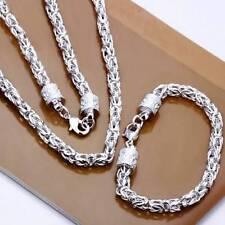 Silberkette Armband Set  Sterling SILBER 925 königskette panzerkette 50cm s3
