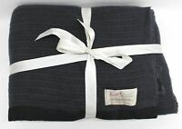 SCARLET & ARGENT Dark Grey Luxury Shetland Wool Throw Blanket 260x260cm NEW