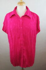 EAST 5TH 1X 18/20 WOMENS PLUS SIZE SHIRT TOP BLOUSE RUCHED TEXTURED EMBROIDERED