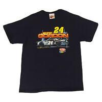 Vintage NASCAR T-Shirt Jeff Gordon Mens Large Dupont 24 Racing Streetwear Blue