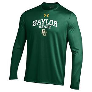 Baylor Bears NCAA Men's Under Armour Long Sleeve Tech Shirt, Forrest Green, NWT
