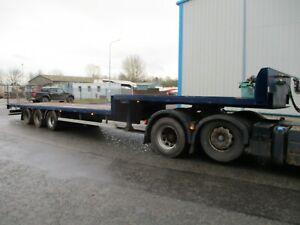 2006 M&G step frame trailer flat deck MOT apr 22 drum brakes Delivery low loader