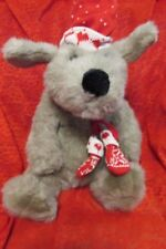 Kris Mutt Vintage Dayton Hudson Target Christmas Plush Stuffed Dog Knit Hat