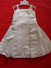 BNWT GIRLS WHITE PARTY WEDDING CHRISTENING BAPTISM DRESS   SIZE 2