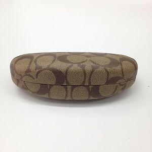 Coach Original Sunglasses Case Brown Monogram Hard Case Size L