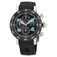Chronoswiss Timemaster ch-9043b-bk/71-2 Chronograph 44mm Swiss Watch dlc rubber