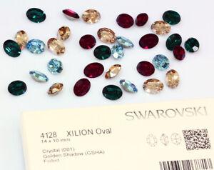 Original SWAROVSKI 4128 Xilion Oval Straßsteine Kristalle * viel Farben & Größen