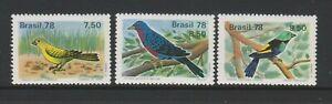 Brazil - 1978, Vögel Set - MNH - Sg 1710/12