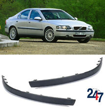 NEW VOLVO S60 2001 - 2004 FRONT BUMPER MOLDING TRIM COVER PAIR SET LEFT RIGHT