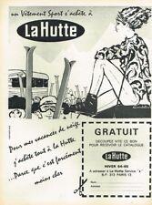 B- Publicité Advertising 1964 Les Magasins de sport La Hutte Ski par Candelast