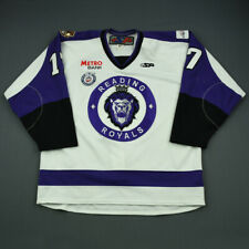 2012-13 Evan Barlow Reading Royals Game Used Worn ECHL Hockey Jersey! MeiGray