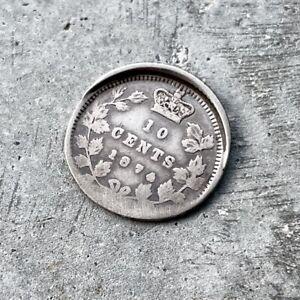 1874 Canada 10 Cent off struck dramatic Error