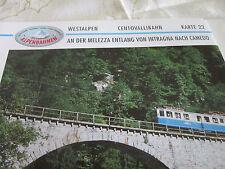 Alpenbahnen Westalpen K 22 Centovallibahn Intragna Camedo entland der Melezza