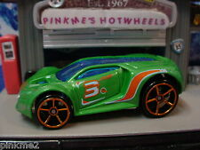 2012 Hot Wheels ULTRA RAGE☆Green w/Orange oh5; 3☆NEW Loose Multi Pack Design Ex