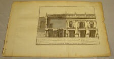 1756 Antique Print/PROFILE OF WING OF CAPITOL, ROME/Courses in Architecture