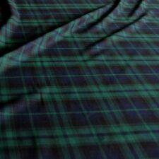 blau grün Schotten Karo Tartan Kleiderstoff Deko-Stoff Meterware weich Tolko