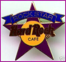 "Hard Rock Cafe STAFF MEMBERS ONLY ""ROCK STAR"" Purple PIN - HRC Catalog #3390"