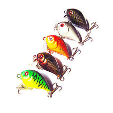 Lot 5pcs New 8g/5cm Fishing Lure Crank Bait Hooks Bass Crankbait Tackle