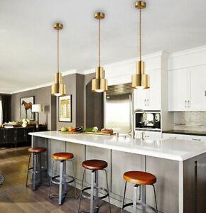 Home Kitchen Pendant Light Bedroom Ceiling Lights Gold Bar Chandelier Lighting
