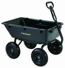 Gorilla Carts GOR6PS Heavy-Duty Poly Yard Dump Cart with 2-In-1 Convertible Hand